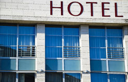 Windows of the hotel Stock Photo