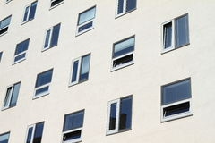 Windows of a hotel Stock Photography