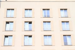 Windows of a hotel Royalty Free Stock Photos
