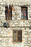 Windows or a house at the citadel of Kala at Berat Royalty Free Stock Photo