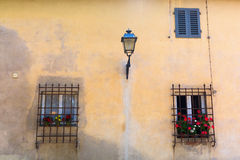 Windows at a house in Italy Royalty Free Stock Photo