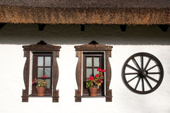 Windows of hungarian csarda Stock Photography