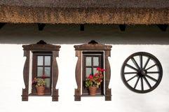 Windows of hungarian csarda Stock Photography