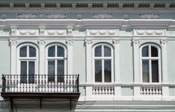 Windows i balkon Fotografia Stock