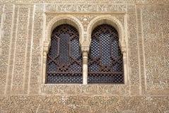 Windows i islamisk arabesque Fotografering för Bildbyråer