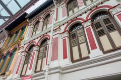 Windows i outside powierzchowność Singapur i Malezja Projektujemy fotografia royalty free