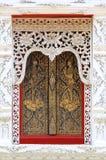 Windows i templet Fotografering för Bildbyråer