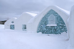 Windows of Ice hotel. Royalty Free Stock Photos
