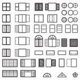 Windows icon set. Window types set. Vector. Eps10 Stock Photo