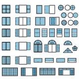 Windows icon set. Window types set. Vector. Eps10 Royalty Free Stock Image