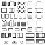 Windows icon set. Window types set. Vector. Eps10 Royalty Free Stock Photo