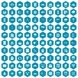 100 windows icons sapphirine violet. 100 windows icons set in sapphirine hexagon isolated vector illustration royalty free illustration