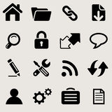 Windows icons set great for any use. Vector EPS10. Royalty Free Stock Photography