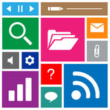 Windows icons set great for any use. Vector EPS10. Royalty Free Stock Photo