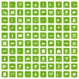 100 windows icons set grunge green. 100 windows icons set in grunge style green color isolated on white background vector illustration Royalty Free Stock Photo