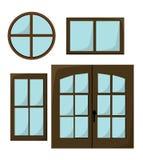 Windows illustration isolated on white background Stock Photo