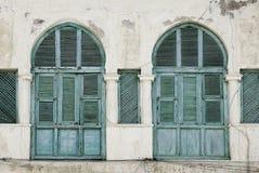Windows im massawa Eritrea-Osmaneeinfluß Stockbild