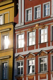 Windows In The Tenement House Royalty Free Stock Images