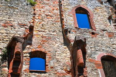 WIndows on Infinity, Rotteln Castle, Germany. Roetteln Castle located above the Loerrach suburb of Haagen, lies in the extreme southwest corner of the German Stock Photography