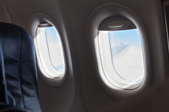 Windows inside an aircraft Royalty Free Stock Image