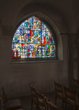 Windows from inside church Royalty Free Stock Photos