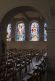 Windows from inside church Stock Images
