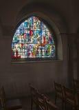 Windows from inside church Stock Photo