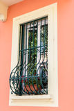 Windows with iron bars Royalty Free Stock Images