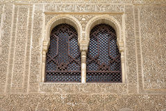 Windows in Islamic arabesque Stock Image