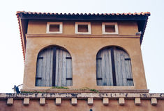 Windows of Italian style building Royalty Free Stock Photography