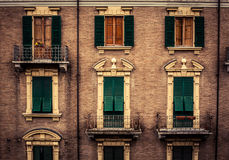 Windows in Italy Royalty Free Stock Photo