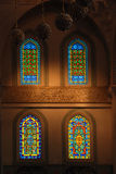 Windows of the kocatepe mosque Royalty Free Stock Image
