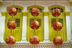 Windows and lanterns Stock Images