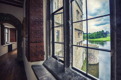 Windows of Leeds Castle Royalty Free Stock Photos