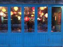 Windows light glass lanterns Stock Photos