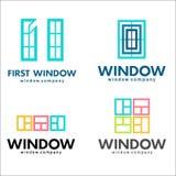 Windows loga set, wektorowy loga szablon Obrazy Stock
