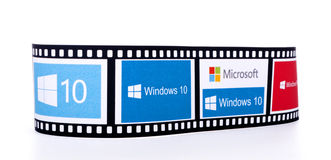 Windows 10 logotipos Imagem de Stock Royalty Free