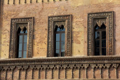 Windows in Mantova Stock Image