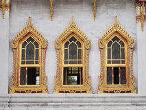 Windows of The Marble Temple Stock Image