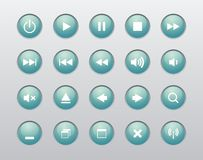 Windows and Media Player Navigation button Royalty Free Stock Images