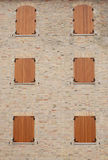 Windows of a medieval building Stock Photos