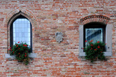 Windows of Medieval Castle Royalty Free Stock Photos