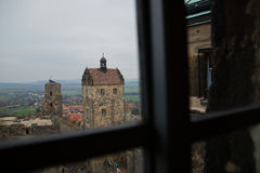 Windows in Medieval castle Royalty Free Stock Photos