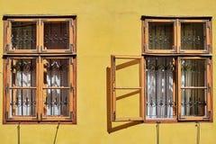 Windows of Medieval House Stock Photos