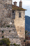 Windows of Medieval tower in  Ouranopoli, Athos, Chalkidiki, Greece Royalty Free Stock Photography
