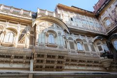 Windows Mehrangarh fort, Rajasthan, Jodhpur, India Obraz Royalty Free