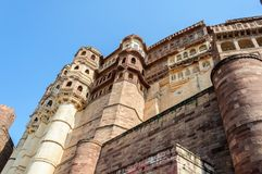 Windows of Mehrangarh Fort, Rajasthan, Jodhpur, India Royalty Free Stock Photography