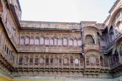 Windows of Mehrangarh Fort, Rajasthan, Jodhpur, India Stock Photography