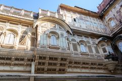 Windows of Mehrangarh Fort, Rajasthan, Jodhpur, India Royalty Free Stock Images