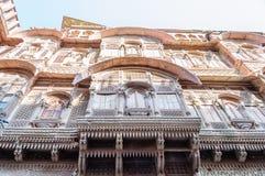 Windows of Mehrangarh Fort, Rajasthan, Jodhpur, India Royalty Free Stock Image